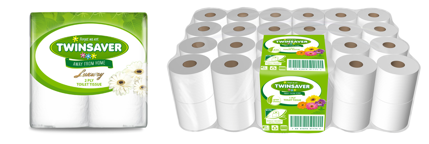 Twinsaver Away From Home Toilet Paper Range