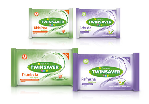 Twinsaver Wipes Range